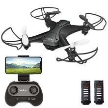 FPV Quadcopter Mini Drone 30W HD Camera Headless Mode Toys Drone Kids Long Flight Time with 2 Batteries for Xmas Boy Gifts