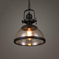 Retro industry E27 LED Pendant Lights Restaurant Kitchen Fixtures Pendant Lamp Cafe Pub Hanging Decor Glass Luminaire