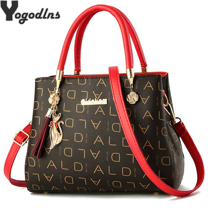Artificial Leather Women's Bags Luxury Shoulder Messenger Bag Crossbody For Women Big Capacity Letter Printing Wild Ladies Bags