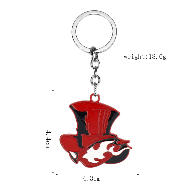 Persona 5 Keychain Take Your Heart Logo Pendant Key Ring Chain Metal Charm Keyholder Game Jewelry Trinket image