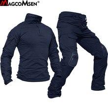 Magcomsen uniformes táticas dos homens camuflagem conjuntos de roupas militares airsoft paintball combate ternos segurança do exército caça atirar vestir