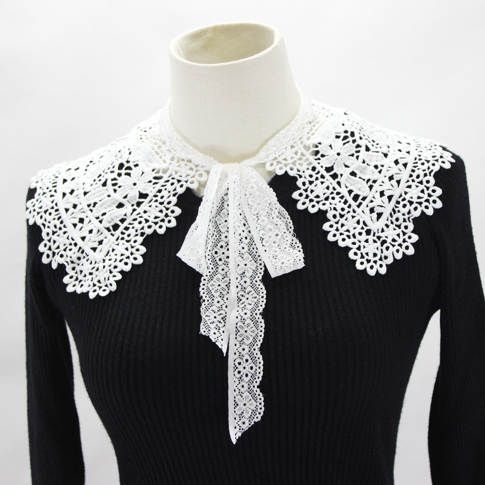 Hollow Out Dickie Hollow Out Shawl Dress Decoration Detachable Fake Collar For Women