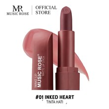 MUSIC ROSE Korean lips Makeup Red Lipstick Matte Long Lasting 12 COLORS Waterproof Women Gift for Girl