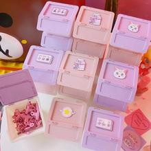 Lovely Girl Storage Box Mini Candy Box Small Storage Boxes Cans Coin Earrings Packing Boxes Jewelry Gift Box Desk Accessories ttlife colorful mini tinplate metal box sealed jar packing boxes jewelry candy box small storage cans coin earrings gift box new