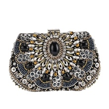 2019 European and American dinner bag for women, high-end diamond-encrusted bridal evening bag, and banquet bag with cross-body