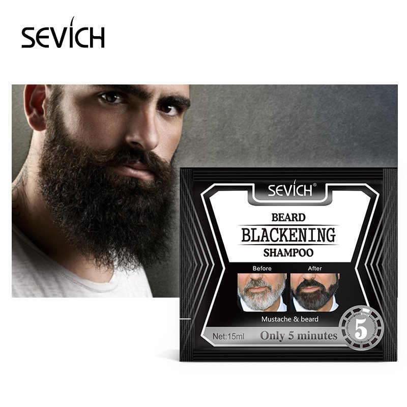 1 pc 15ml barba shampoo planta duradoura hidratante preto tintura de cabelo natural de secagem rápida barba shampoo tintura de cabelo tslm2