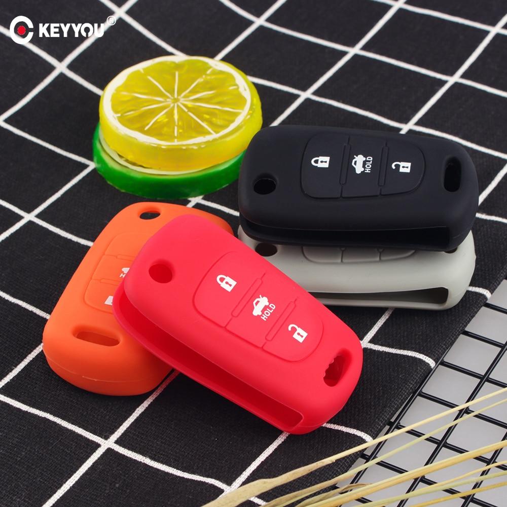 KEYYOU Silicone Car Key Cover Case Protect For KIA Sid Rio Soul Sportage Ceed Sorento Cerato K2 K3 K4 K5 For Hyundai I20 I30 I35