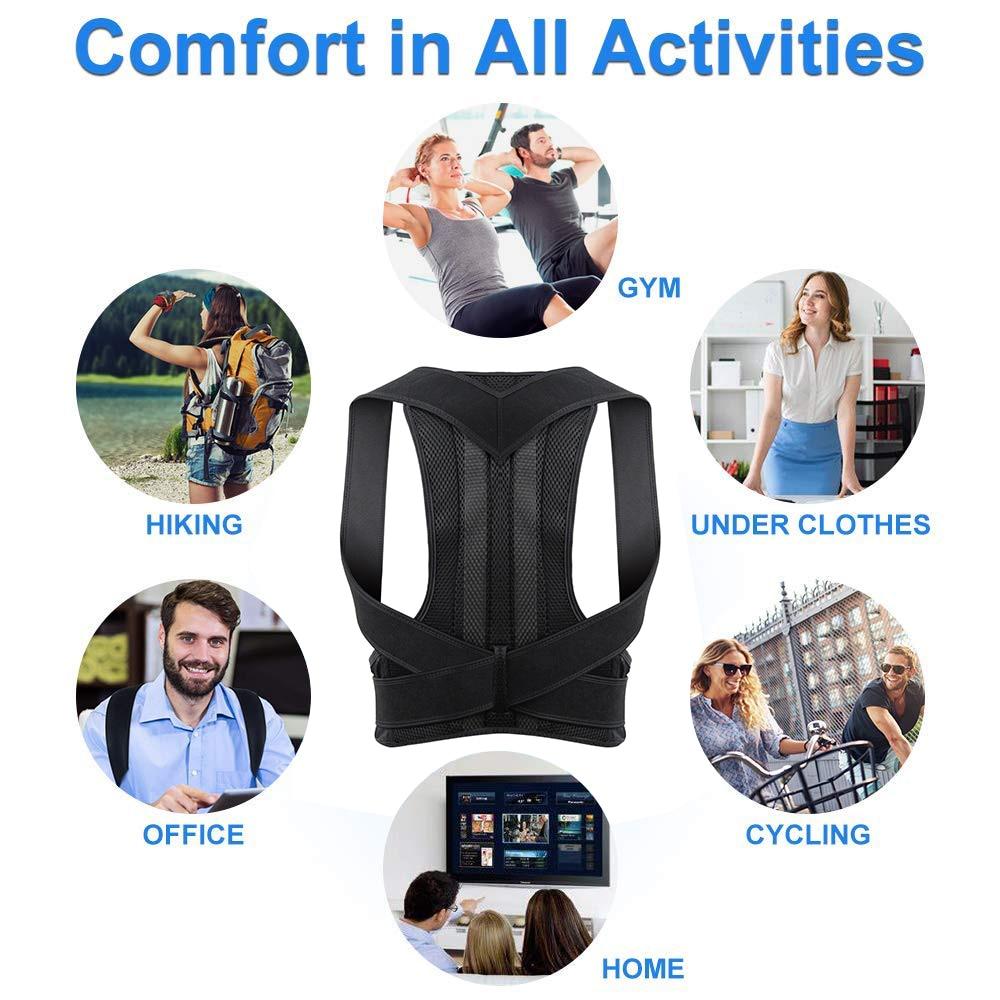 Image 5 - Adjustable Posture Corrector Back Support Shoulder Lumbar Brace Support Corset Back Belt for Men-in Braces & Supports from Beauty & Health