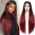 X-TRESS эффектом деграде (переход от темного к синтетический парик Синтетические волосы на кружеве парики для чернокожих Для женщин Мягкий кра...