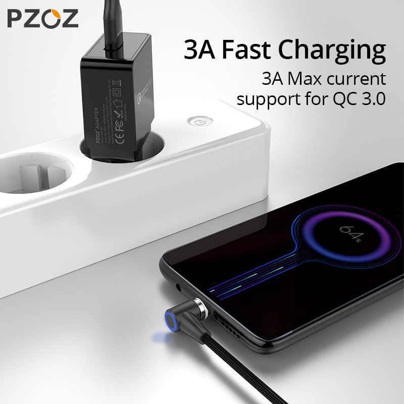 PZOZ Cavo Magnetica USB C Micro USB di Tipo C di Ricarica Veloce 90 Gradi Microusb Tipo-C Caricatore Magnete Per iPhone 11 Pro X Xs MAX XR