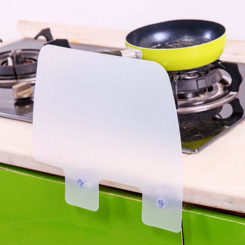 Kitchen Tool Oil Baffle Utility Kitchen Wash Basin Removable Portable Suction Cup Type Silicone Sink Oil And Splash Proof Baffle