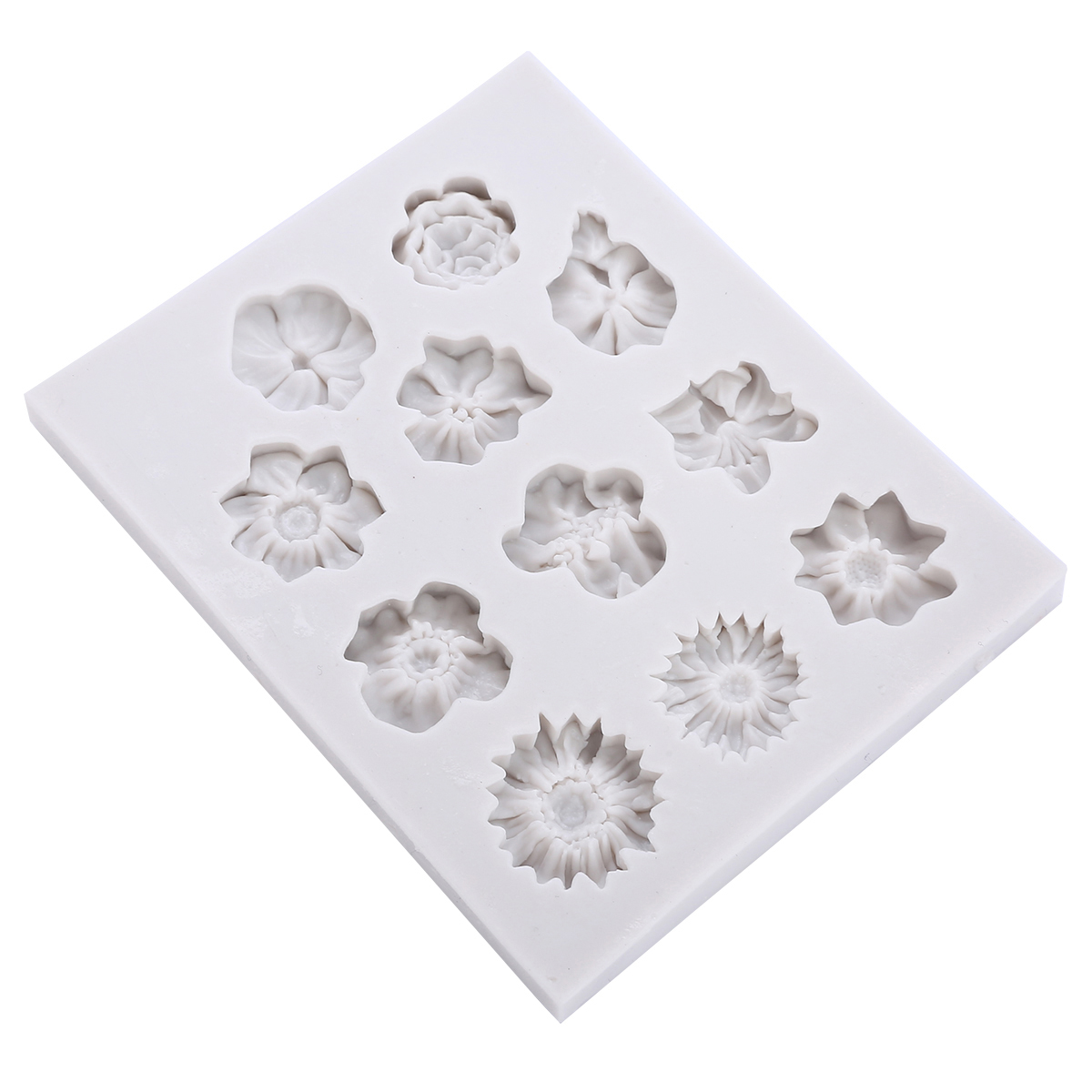 11 Holes Silicone <font><b>Flower</b></font> Fondant Mould DIY <font><b>Flower</b></font> <font><b>Cake</b></font> Mould Chocolate Sugarcraft <font><b>Cake</b></font> Mold Reusable Kitchen Bakeware <font><b>Tool</b></font> <font><b>Decor</b></font> image