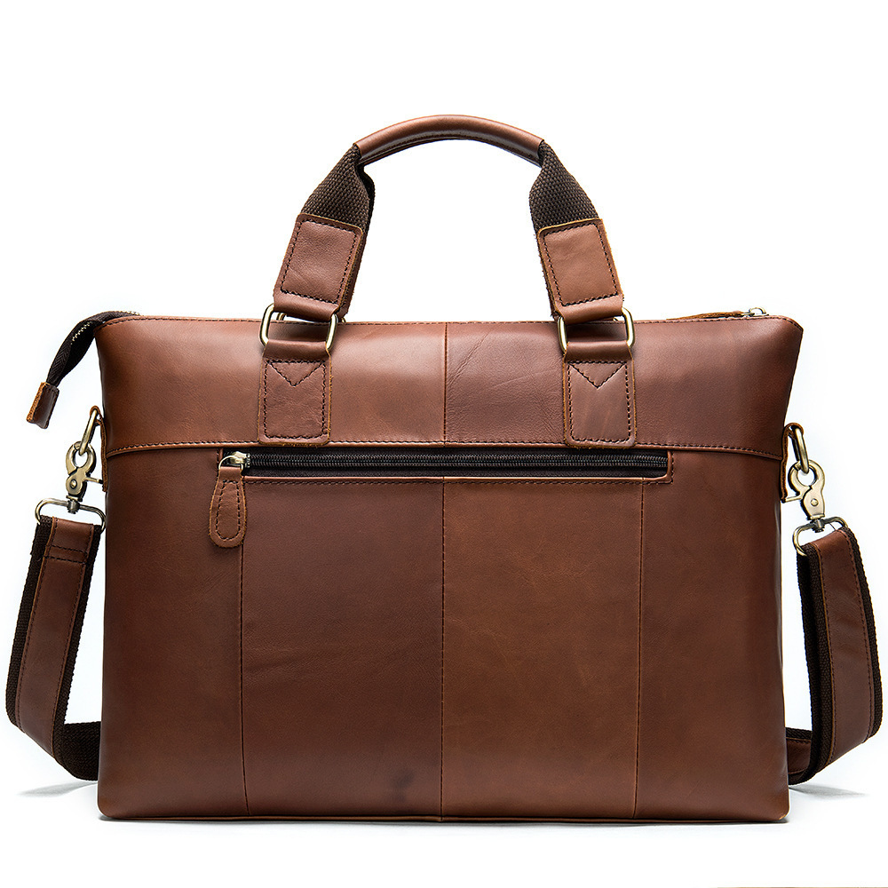 2020 Man Briefcase Business Affairs Leisure Time Single Shoulder Layer Cowhide Handbag Male Genuine Leather Messenger Bag Men