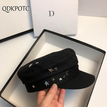 QDKPOTC 2020 Hat Spring Autumn Women New Stars Military Hats Cotton Breathable Fashion Flat Cap Outdoor Casual Berets