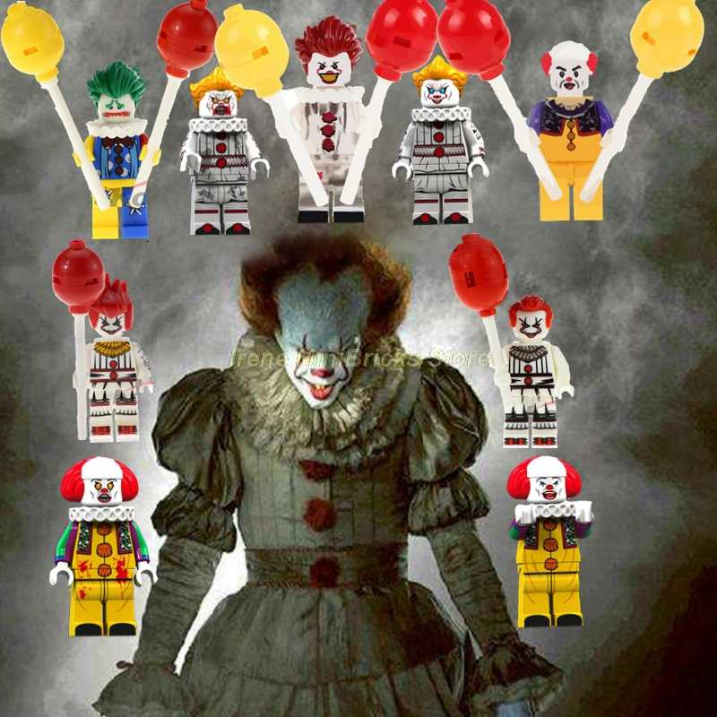 Film Halloween Hadiah Natal Stephen King Ini Pennywise Jason Voorhees Billy Vampire Slayer Bangunan Blok Mainan untuk Anak-anak