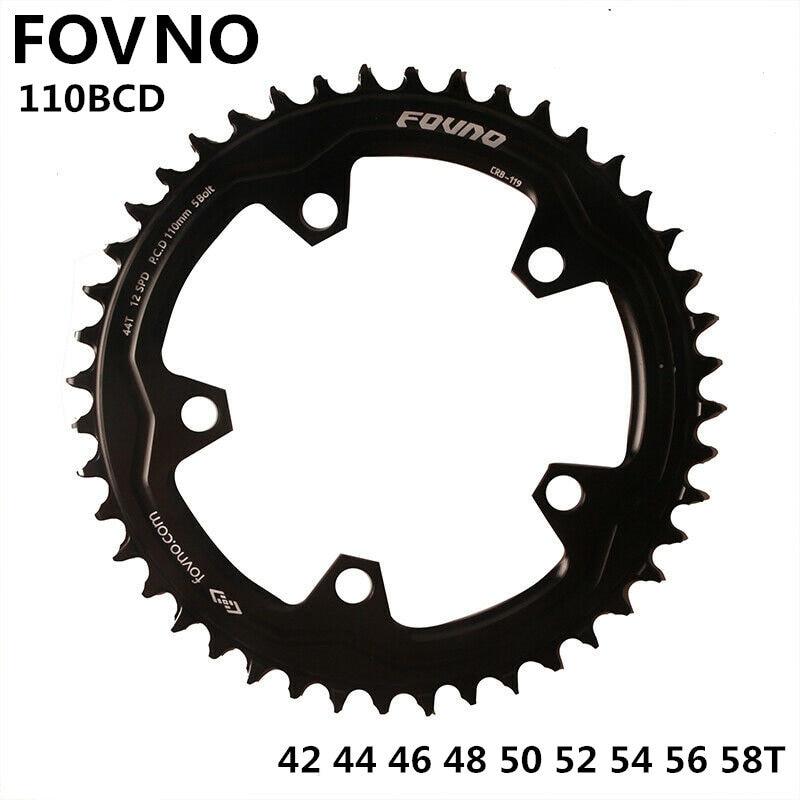 Road bike Round Narrow Wide Sprockets 110 BCD 50//52//54//56//58//60T Chainwheel j