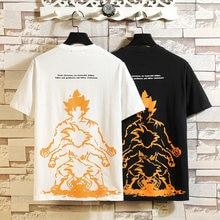 Camiseta informal de manga corta cuello redondo para hombre de Camisa de algodón blanco y negro ropa verano TOP M-5XL gran tamaño 2021