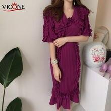 Платье vicone chic во французском западном стиле с v образным