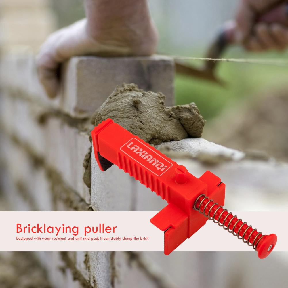 2pcs Bricklaying Wire Drawer Tool Brickwork Cable Puller Stainless Steel Plastic Fixer Engineering Building Accessories