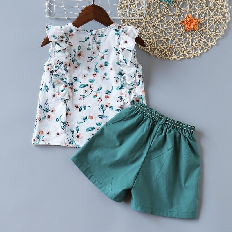 H764dfe5ec79348b58d76b41332cad984M Humor Bear Girls Clothing Set 2020 Korean Summer New Ice Cream Bow T-shirt+Pants Kids Suit Toddler Baby Children's Clothes
