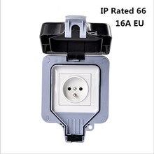 Prise électrique résistante aux intempéries, prise électrique étanche, prise murale pour lextérieur, IP66, 16a