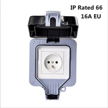 Weatherproof Electrical outlet power socket waterproof outdoor gounded wall socket IP66 16A