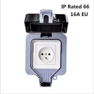 Image 1 - שקע חשמל לשקע חשמל עמידה עמיד למים חיצוני gounded קיר שקע IP66 16A