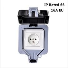 طقس الكهربائية المخرج السلطة المقبس للماء في الهواء الطلق gounded مقبس الحائط IP66 16A