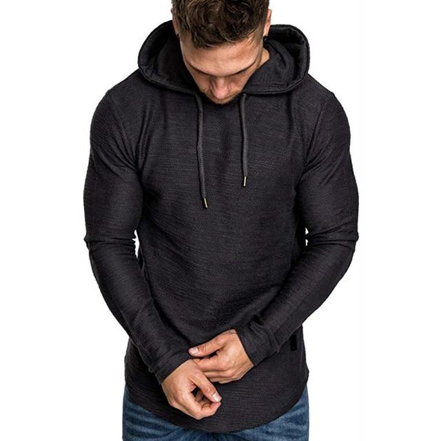 2021 New Men's Brand Pure Color Sweatshirt Fashion Men's Hoodie Spring Autumn Winter Casual Hoodie Men's Long Sleeve M-3XL 6