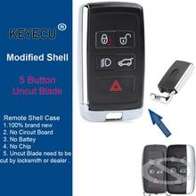 KEYECU funda de carcasa de llave remota mejorada, para Land Rover Range Rover LR2 LR4 Discovery para KOBJTF10A