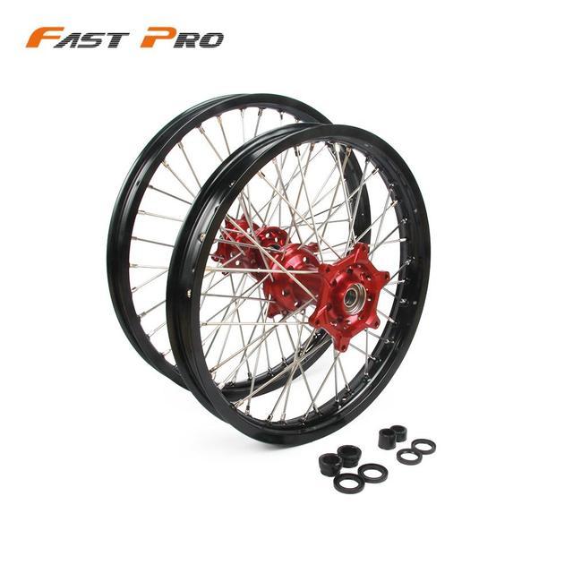"""21""""  19"""" Motorcycle 1.6X21"""" 2.15X19"""" Front Rear Wheel Rim Hub For Honda CR 125R 250R CRF250R CRF 450R 250X 450X 2002 2015"""