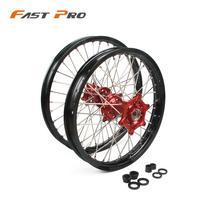 """21 """"19"""" motocicleta 1.6x21 """"2.15x19"""" cubo dianteiro aro da roda traseira para honda cr 125r 250r crf 450r 250x 450x 2002 2015"""