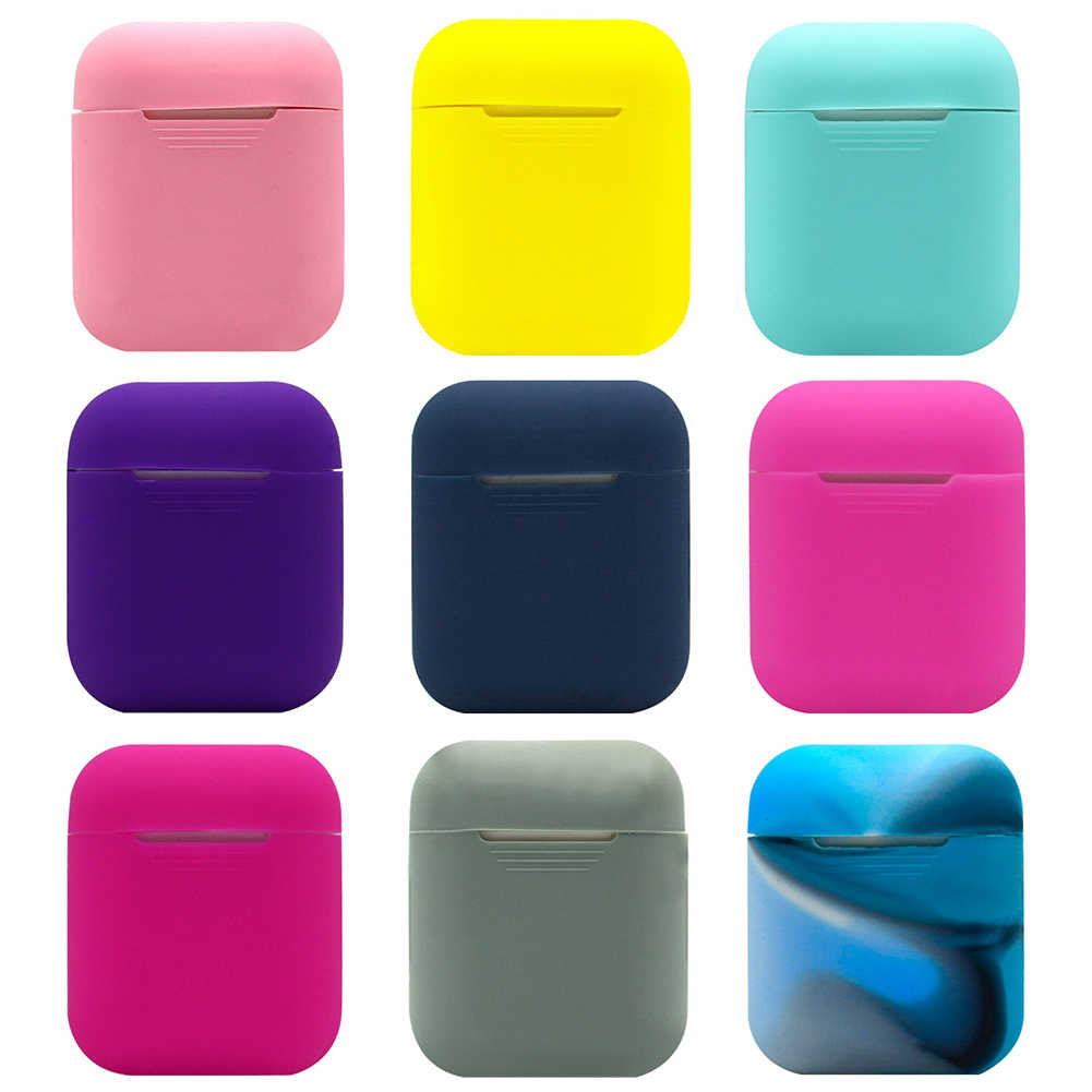 TPU سيليكون بلوتوث اللاسلكية حقيبة سماعة الاذن ل AirPods واقية غطاء الجلد ملحقات لأبل Airpod شحن مربع