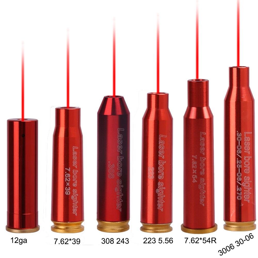 Красный точечный лазерный CAL латунь медь Boresight 12GA 7,62x39 мм 223 5,56 308 243 3006 30-06 картридж для прицела аксессуары для охоты