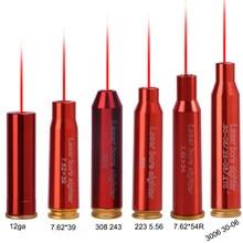 Boresight de cobre 12ga 7.62x39mm 223 5.56 308 243 3006 30-06 cartucho de bronze cal do laser do ponto vermelho boresight acessórios de caça