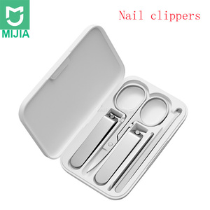 Image 1 - Xiaomi mijia 5pcs/set Manicure Nail Clippers Pedicure Set Portable Travel Hygiene Kit Stainless Steel Nail Cutter Tool Set