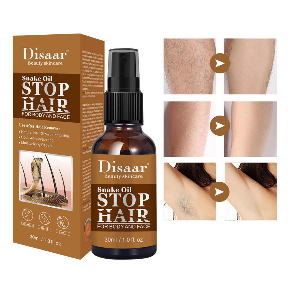 30ml Powerful Permanent Hair Removal Spray Painless Stop Hair Growth Inhibitor Shrink Pores Skin Smooth Repair Essence