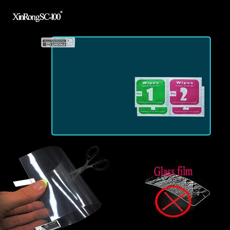 2pcs pet macio limpar protetor de tela película protetora para podofo 2 din carro multimídia player áudio estéreo 2din rádio do carro 7 polegada