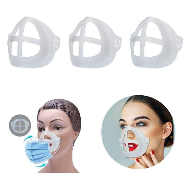 5pcs Breathable Lipstick Stand Breathable Breathing Space Increase Nose 3D Mask Bracket 2