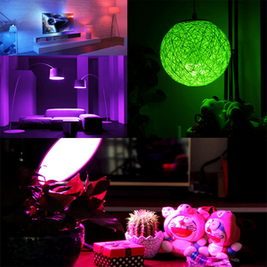 Image 5 - E27 16 head color changing bulb 110V 220V festival dimming bundi stage light + 24key suitable for home infrared remote control