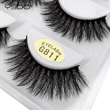 YSDO 5 pairs 3d mink eyelashes natural long lashes volume lash handmade makeup fluffy