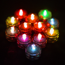 12pcs Colorful Bright Submersible Waterproof Mini LED Tea Light Candle Lights For Wedding Party Deocr