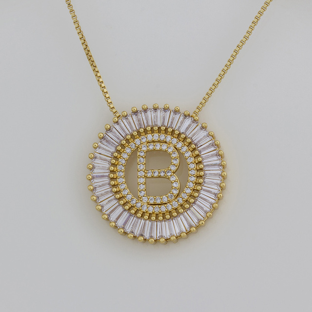 Offre spéciale A-Z initiales 3 couleurs choisit Micro Pave CZ lettre pendentif colliers pour femmes charme chaîne famille bijoux cadeau