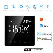 Tuya Smart Life WiFi termostat regulator temperatury do wody elektryczne ogrzewanie podłogowe woda kocioł gazowy współpracuje z Alexa Google tanie tanio centechia NONE CN (pochodzenie) Innych