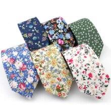 Floral-Tie Gravata-Accessory Gift Wedding Nicktie Slim Men's 100%Cotton Brand-New Dinner
