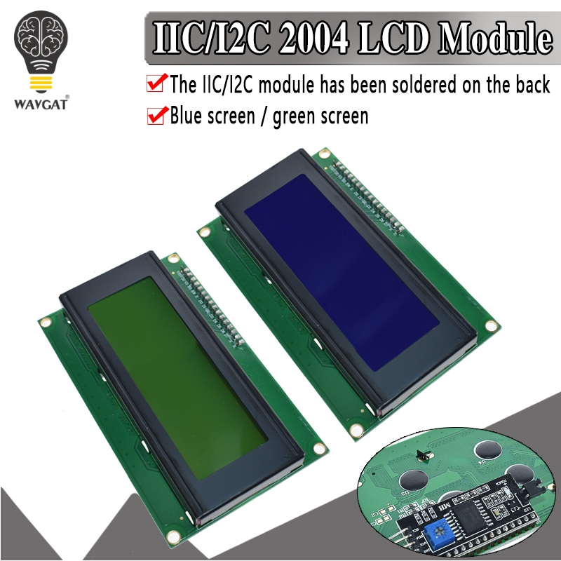 IIC/I2C/TWI 2004 Serial Blue Green Backlight LCD Module For Arduino UNO R3 MEGA2560 20 X 4 LCD2004