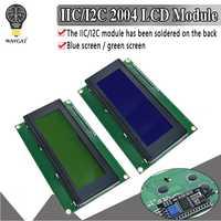 IIC/I2C/TWI 2004 di Serie Blu Verde Retroilluminazione LCD Modulo per Arduino UNO R3 MEGA2560 20X4 LCD2004