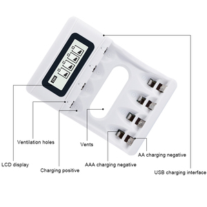 Image 2 - Intelligent LCD Display AA AAA Battery Charger For Ni Cd Ni Mh Rechargeable Batteries USB Interface  Smart Chargers US/EU Plug