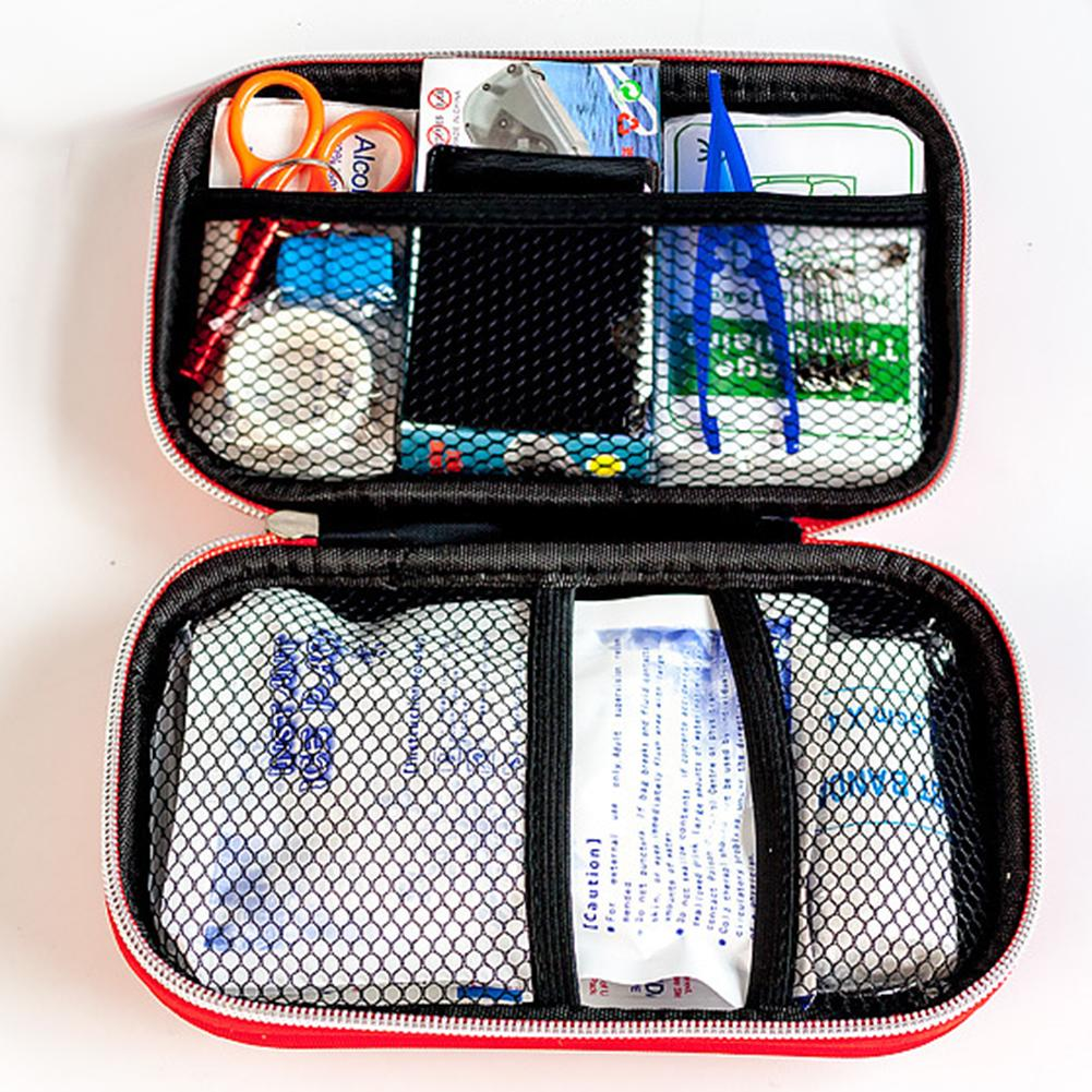 Outdoor Camping Hiking Adventures Emergency Survival Gear First Aid Kit With Bag