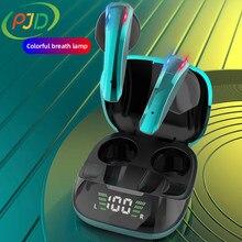 PJD nowości wodoodporny zestaw słuchawkowy Mini Bluetooth Sport Ture bezprzewodowe słuchawki Stereo TWS słuchawki z redukcją szumów dla telefonów